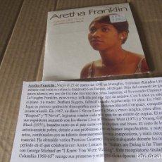 CDs de Música: ARETHA FRANKLIN. REINA DEL SOUL. LOS AÑOS COLUMBIA 1960-65. CD PROMOCIONAL CADENA 100. Lote 227446580