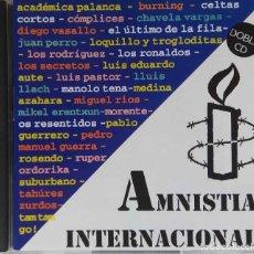 CDs de Música: AMNISTÍA INTERNACIONAL. BURNING,ÚLTIMO DE LA FILA,LOQUILLO,SECRETOS,AUTE.MORENTE...DOBLE CD,2 DISCOS. Lote 227463167