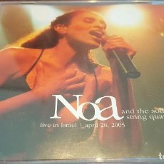 CDs de Música: NOA AND THE SOLIS STRING QUARTET CD DOBLE 2006 LIVE IN ISRAEL. Lote 227575235