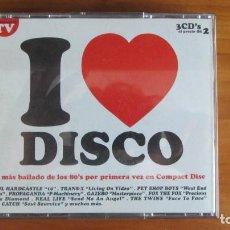 CDs de Música: I LOVE DISCO LO MAS BAILADO DE LOS 80 -3 CD- MY MINE GAZEBO TRANS-X LIME FANCY PET SHOP BOYS CATCH. Lote 227676640
