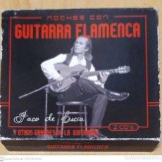 CDs de Música: PACO DE LUCIA (NOCHES CON GUITARRA FLAMENCA) 2 CD'S 2004 (SABICAS, CARLOS MONTOYA, ANDRES SEGOVIA..). Lote 182321647