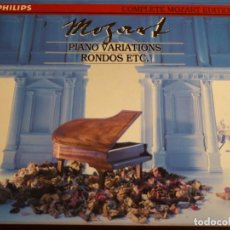 CDs de Música: COMPLETE MOZART EDITION PHILIPS. VOLUMEN 18. PIANO VARIATIONS, RONDOS ETC. 5 CD´S. Lote 227775025
