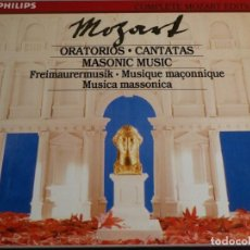 CDs de Música: COMPLETE MOZART EDITION PHILIPS. VOLUMEN 22. ORATORIOS·CANTATAS. MASONIC MUSIC . 6 CD´S. Lote 227775641