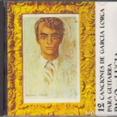 CDs de Música: PACO DE LUCIA Y RICARDO MONDREGO - 12 CANCIONES DE FEDERICO GARCIA LORCA PARA GUITARRA - CD. Lote 270536488