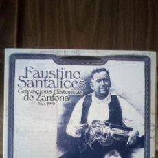 CDs de Música: FAUSTINO SANTALICES - GRAVACIONS HISTÓRICAS DE ZANFONA 1927-1949. Lote 228109390