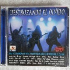 CDs de Música: DOBLE CD DESTROZANDO EL OLVIDO (VARIADO BANDAS NACIONALES DE HARD-ROCK Y HEAVY METAL DE LOS 80-90).. Lote 228213690
