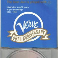 CDs de Música: VERVE 50TH ANNIVERSARY - THE BEST JAZZ IS PLAYED - VARIOS (CD SAMPLER PROMO, VERVE RECORDS 1996. Lote 228328765