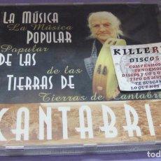 CDs de Música: LA MÚSICA POPULAR DE LAS TIERRAS DE CANTABRIA - CD. Lote 228472315