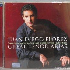 CDs de Música: CD. JUAN DIEGO FLOREZ. GREAT TENOR ARIAS. Lote 228508902