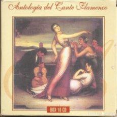 CDs de Música: ANTOLOGIA DEL CANTE FLAMENCO - VARIOS (BOX SET CON 10 CD'S, EDICION ESPECIAL MOVIE MUSIC, VER FOTOS). Lote 228515070