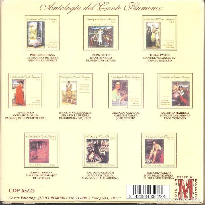 CDs de Música: ANTOLOGIA DEL CANTE FLAMENCO - VARIOS (BOX SET CON 10 CDS, EDICION ESPECIAL MOVIE MUSIC, VER FOTOS) - Foto 2 - 228515070