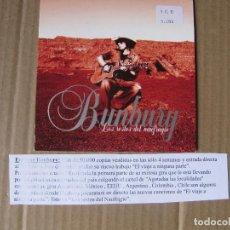 CDs de Música: ENRIQUE BUNBURY – LOS RESTOS DEL NAUFRAGIO 1 TRACK CD SINGLE CADENA 100. Lote 228519830