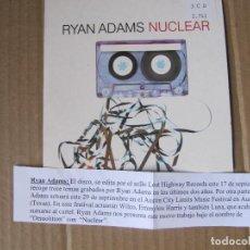 CDs de Música: CD SINGLE PROMO CARTON CADENA 100 RYAN ADAMS / NUCLEAR. Lote 228522420