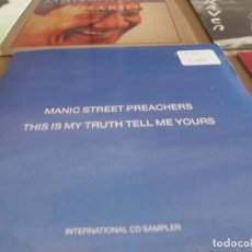 CDs de Música: MANIC STREET PREACHERS – THIS IS MY TRUTH TELL ME YOURS SAMPCD 5742. Lote 228523030