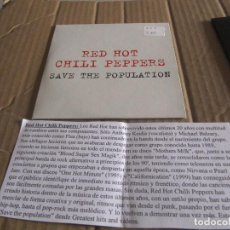 CDs de Música: RED HOT CHILI PEPPERS PROMO CD SINGLE CADENA 100 SAVE THE POPULATION. Lote 228523835