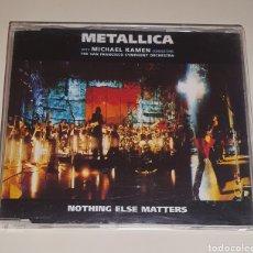 CDs de Música: METALLICA / CD SINGLE 1999 / NOTHING ELSE MATTERS. Lote 228536700