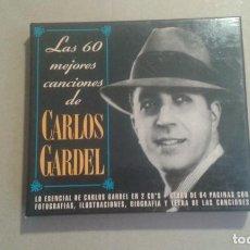 CDs de Musique: CARLOS GARDEL - LAS 60 MEJORES CANCIONES DE CARLOS GARDEL DOBLE CD BOX 1993. Lote 228757415