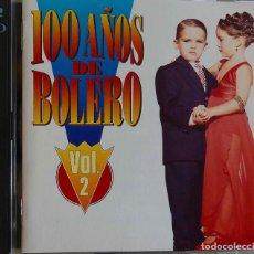 CDs de Música: 100 AÑOS DE BOLERO VOL 2. LOLA BELTRÁN, LA LUPE, CHAVELA VARGAS,MINA.RAPHAEL,ROCIO JURADO...DOBLE CD. Lote 228846455