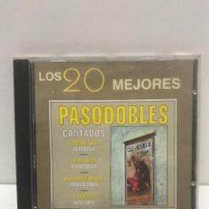 CDs de Música: CD - LOS 20 MEJORES PASODOBLES CANTADOS - 1999. Lote 228917050