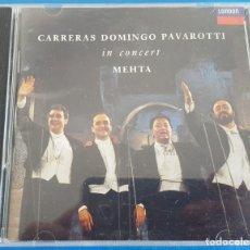 CDs de Música: CD / CARRERAS, DOMINGO, PAVAROTTI IN CONCERT / ZUBIN METHA / LONDON 430 433-2 1990 USA, COMO NUEVO. Lote 229193500