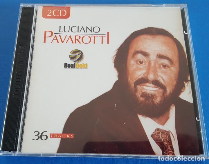 CD DOBLE 2 CD'S / LUCIANO PAVAROTTI / REAL GOLD RG2017 / 2003 COMO NUEVOS (Música - CD's Clásica, Ópera, Zarzuela y Marchas)