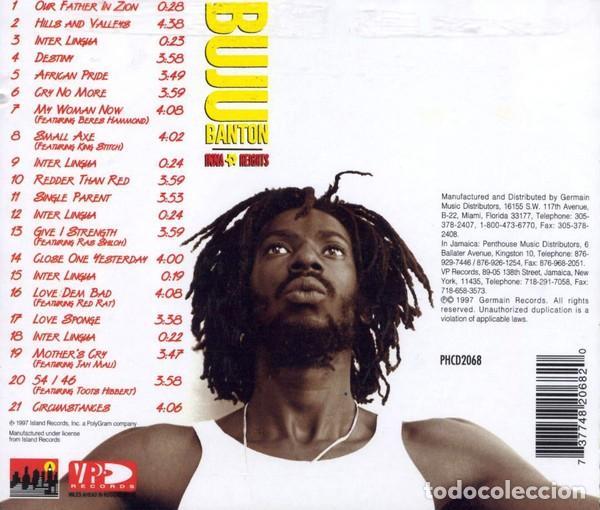 CDs de Música: Buju Banton - Inna Heights - Foto 2 - 229371300