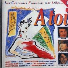 CDs de Musique: À TOI (LAS CANCIONES FRANCESAS MÁS BELLAS) TRIPLE CD. Lote 229378220