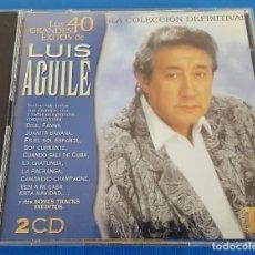 CDs de Música: CD DOBLE 2 CD'S / LUIS AGUILÉ / LOS 40 GRANDES ÉXITOS / VENTURA DISCOS VE-CX-0276-2 2002, COMO NUEVO. Lote 229409455