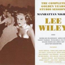 CDs de Música: LEE WILLEY - MANHATTAN NIGHTS (4CD). Lote 229494090