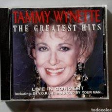 CDs de Música: CD DE TAMMY WYNETTE THE GREATEST HITS - LIVE IN CONCERT. AÑO 1986.. Lote 229524980