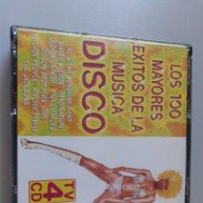 CDs de Música: LOS 100 MAYORES ÉXITOS DE LA MÚSICA DISCO 4 CDS 1996. Lote 229680800