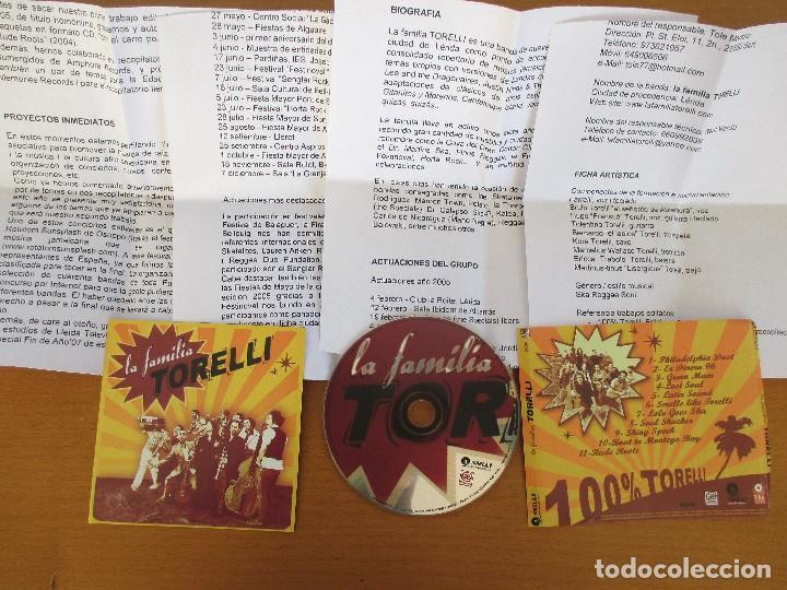 CDs de Música: LA FAMILIA TORELLI 100% TORELLI EDICIONES PAE 11 CANCIONES CON BIOGRAFÍA SKA REGGAE SOUL - Foto 3 - 229723455