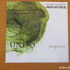 CDs de Música: UNDO DESPACIO COPIA PROMOCIONAL FACTORCITY 2006 CON HOJA PROMOCIONAL 12 CANCIONES. Lote 229724150