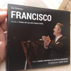 CD di Musica: CD FRANCISCO - EN DIRECTO - DESDE EL PALAU DE LES ARTS REINA SOFÍA -. Lote 229911930