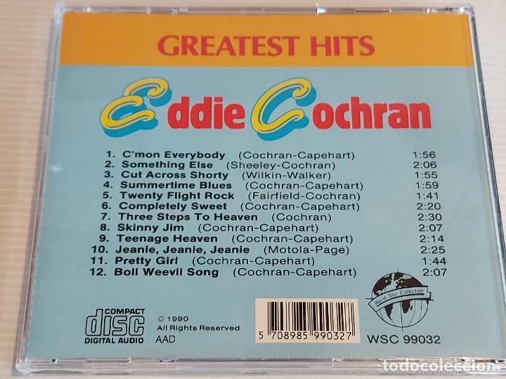 CDs de Música: EDDIE COCHRAN / GREATEST HITS / CD - WORLD STAR-1990 / 12 TEMAS / IMPECABLE. - Foto 3 - 230153655