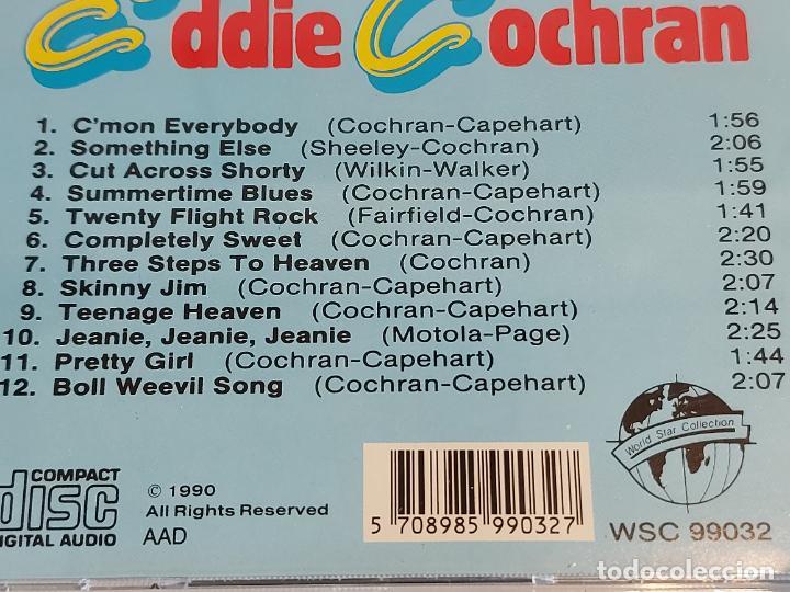 CDs de Música: EDDIE COCHRAN / GREATEST HITS / CD - WORLD STAR-1990 / 12 TEMAS / IMPECABLE. - Foto 4 - 230153655