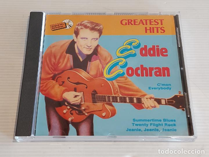 EDDIE COCHRAN / GREATEST HITS / CD - WORLD STAR-1990 / 12 TEMAS / IMPECABLE. (Música - CD's Rock)