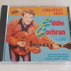 CDs de Música: EDDIE COCHRAN / GREATEST HITS / CD - WORLD STAR-1990 / 12 TEMAS / IMPECABLE.. Lote 230153655