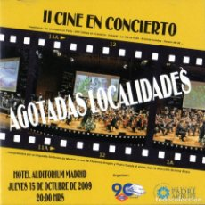 CDs de Música: CINE EN CONCIERTO II - HOTEL AUDITORIUM MADRID. Lote 243894965