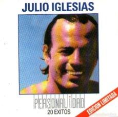 CDs de Música: JULIO IGLESIAS - PERSONALIDAD - 20 GRANDES ÉXITOS - CD ALBUM - SONY MUSIC / COLUMBIA - AÑO 2000. Lote 230208865