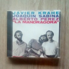 CDs de Música: JAVIER KRAHE, JOAQUÍN SABINA, ALBERTO PÉREZ – LA MANDRÁGORA, CBS – CDCBS 85426, CD, 1988. SPAIN. Lote 230328290