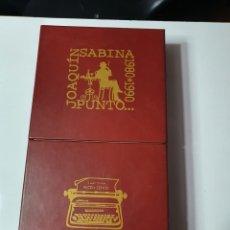 CDs de Música: JOAQUÍN SABINA ...1980 / 1990, 9 CD'S Y 1 DVD, CON LIBRO Y LETRAS.. Lote 230445245