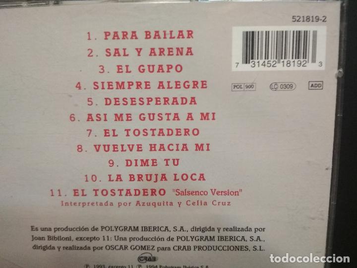 CDs de Música: AZUQUITA Para bailar DUO CELIA CRUZ CD ALBUM DEL AÑO 1994 CONTIENE 11 TEMAS JOAN BIBILONI pepeto - Foto 2 - 231146510