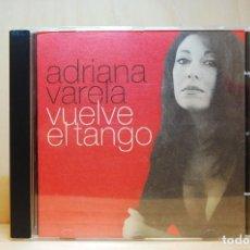 CDs de Música: ADRIANA VARELA - VUELVE EL TANGO - CD -. Lote 231425465