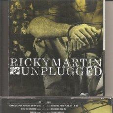 CD di Musica: RICKY MARTIN - UNPLUGGED (CD, SONY MUSIC 2006). Lote 231518645