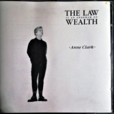 CDs de Música: ANNE CLARK - THE LAW IS AN ANAGRAM OF WEALTH. Lote 231576695