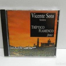 "CDs de Música: DISCO CD. VICENTE SOTO ""SORDERA"" – TRIPTICO FLAMENCO (JEREZ). COMPACT DISC.. Lote 231632600"