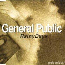 CDs de Música: GENERAL PUBLIC - RAINY DAYS (CD SINGLE: 2 TEMAS) (PRECINTADO). Lote 231802440