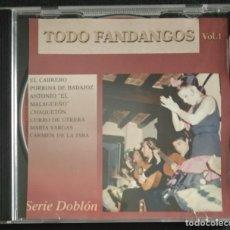 CDs de Música: CD FANDANGOS EL CABRERO / CHAQUETÓN / CURRO DE UTRERA / PORRINA / EL MALAGUEÑO / CARMEN DE LA JARA. Lote 231988095