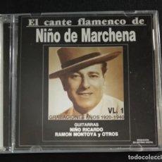 CDs de Música: RAREZA CD DOBLE - EL CANTE FLAMENCO DE NIÑO DE MARCHENA (VOL. 1 Y 2 / 1991 Y 1992) CON NIÑO RICARDO. Lote 231989440